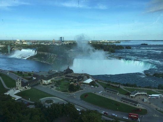 Niagara Falls Marriott Fallsview Hotel & Spa: View of both falls from our room.