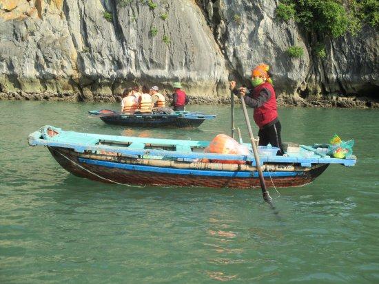 Tuan Chau Island, Vietnam: small boat ride