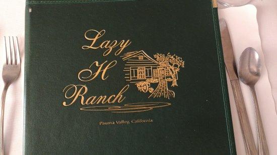 Lazy H Ranch: Lazy H Menu Cover