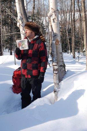 Saint Hippolyte, แคนาดา: Carl le trappeur vous attends pour vous apprendre sur le métier et les animaux d'ici