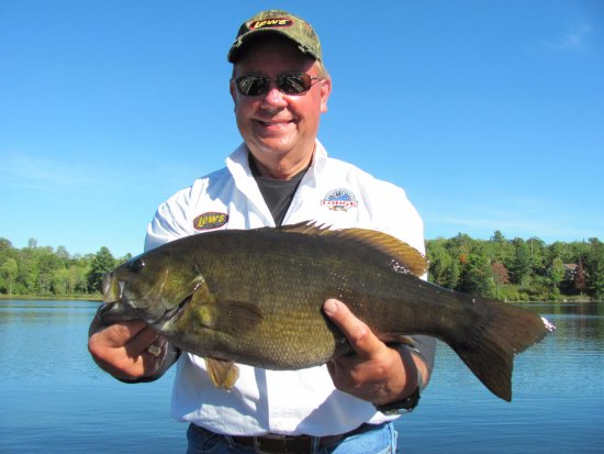 Waterfalls Lodge: our Smallmouth Bass fishery