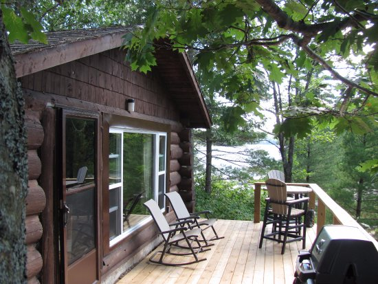 Waterfalls Lodge: our Log Cabin