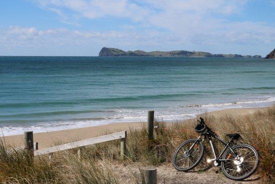 Pauanui, Nueva Zelanda: Beach Access 8 mit Ausblick auf Slipper Island