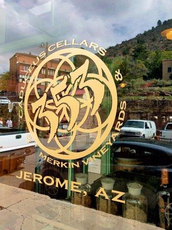 Jerome, AZ: Window Signage