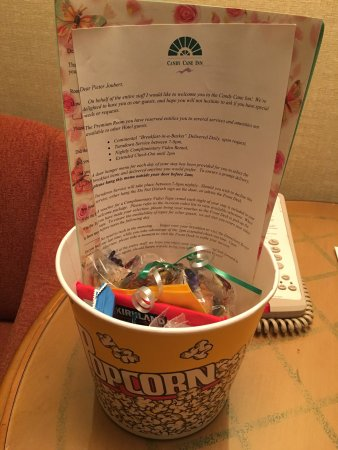 Candy Cane Inn: Premium room amenities. Worth it!