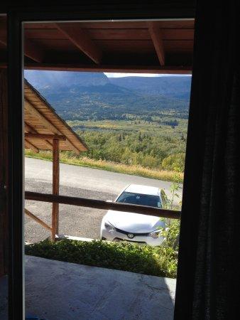 Saint Mary, MT : car below the porch