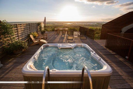 Bouliac, Frankrig: La terrasse de la suite jacuzzi