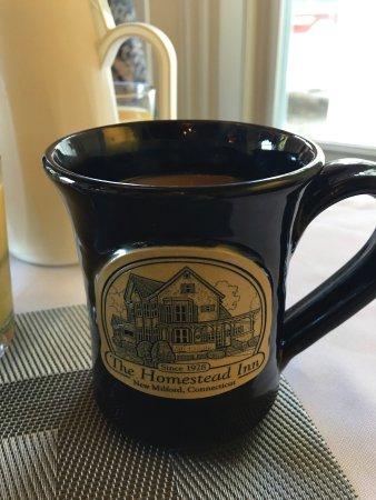 New Milford, CT: Inn mug up close