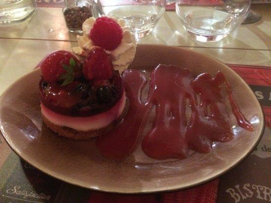 La Cadiere d'Azur, Francja: Dessert Framboise