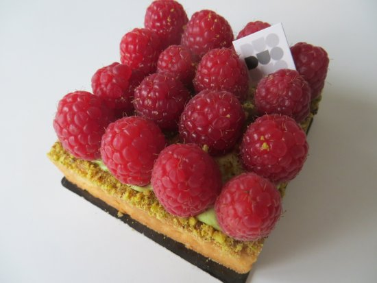 Μάρκχαμ, Καναδάς: My favorite Raspberry, Pistacchio cream short bread crust flan - Yuuuuummm!!