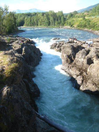 Smithers, Canada: The gorge of the Bulkley River.