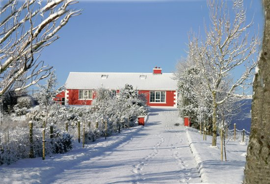 Glenties, Ireland: Avalon B&B in the Snow