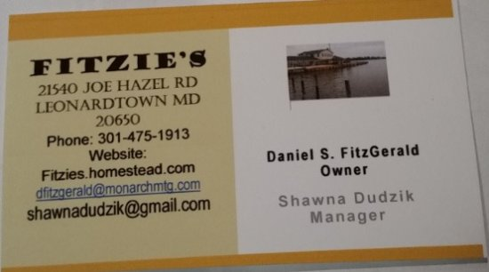 Leonardtown, MD: Fitzie's Contact Info
