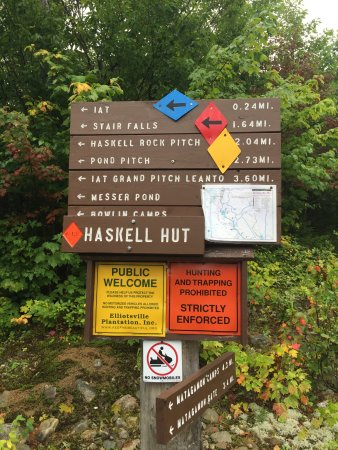 Patten, ME: Excellent hiking trails close to the lodge
