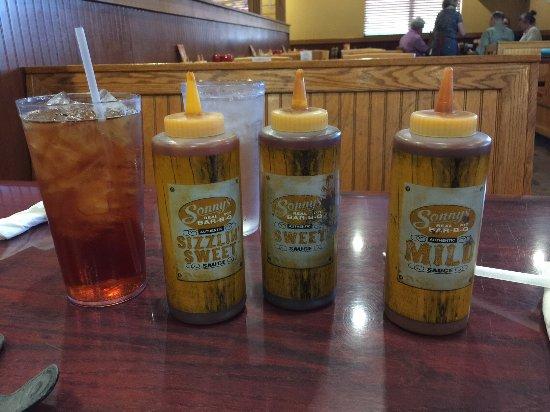 Rock Hill, SC: 3 of their 4 bar-bq sauces.