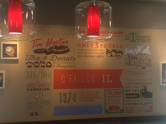 O'Fallon, IL: Tim Hortons wall of trivia