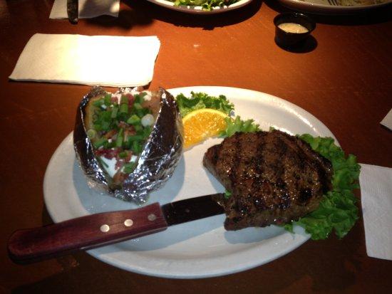 Burlington, WA: steak and baked potato
