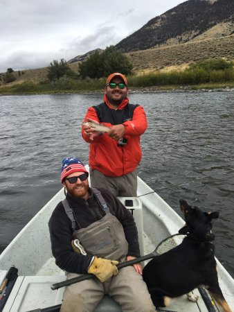 Gardiner, MT: Mountain White Fish catch. Brogan, our guide, put us on so many fish we lost track of the count!