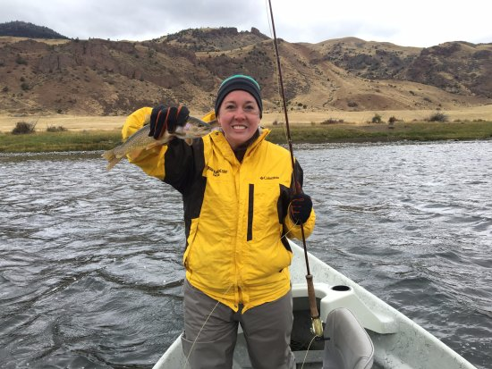 Gardiner, MT: My wife with her beautiful Yellowstone Cutthroat Trout.