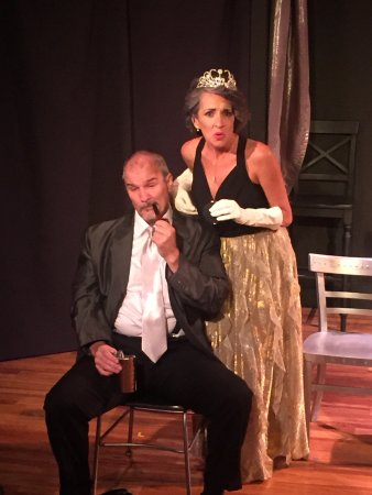 "San Angelo, TX: Ken Roberts and Elena Kent perform in ""2 by 5, The Music of Kander and Ebb""  at Be Theatre."