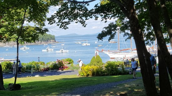 View of Bar Harbor from Agamont Park