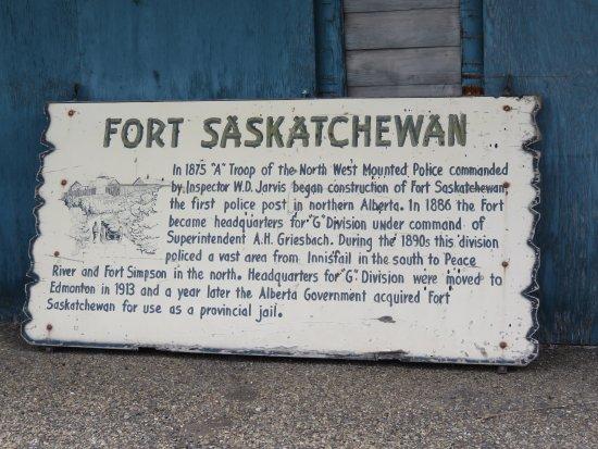 Fort Saskatchewan, Canadá: A plaque