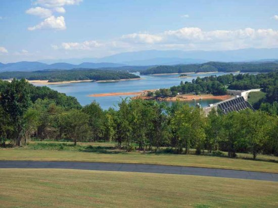 Dandridge, TN: View from observation deck