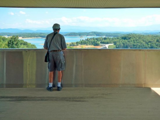 Dandridge, TN: Looking Out from Observation Deck