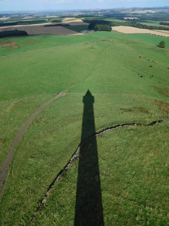 Jedburgh, UK: view from top shadow