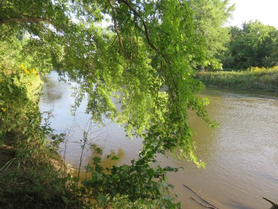 Brandon, SD: Big Sioux River next to recreation area