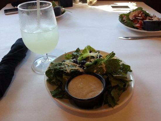 Monteagle, TN: That's unusual Caesar's salad without croutons and chicken pieces.