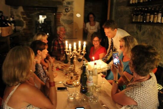 Villa Schiatti: A special birthday cake for two of our group