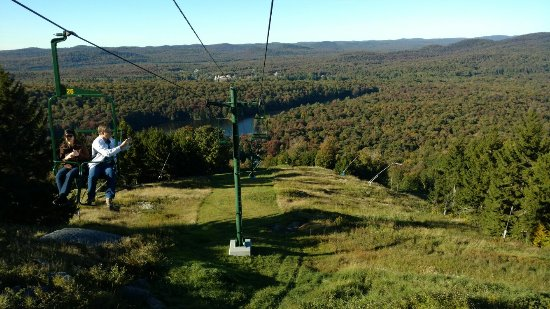 McCauley Mountain: First time on the mountain,  and it was such a Beautiful day!!  We love it here.  The view is so