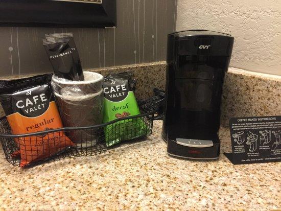 Bedford, TX: In room coffee