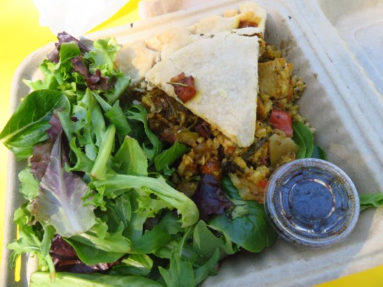 Curry Chicken Pie With Salad Food Truck Service Picture Of