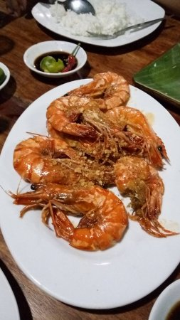 Caloocan, Philippines : Garlic and Buttered Prawns