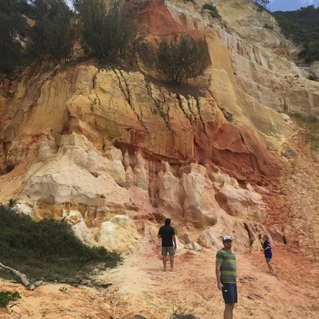 Tewantin, أستراليا: Layers of different sands