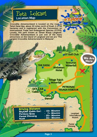 Crocodile Adventureland Langkawi Location Map We Are The