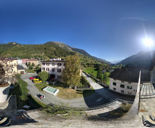Lavin, Switzerland: Aussicht Zimmer 9