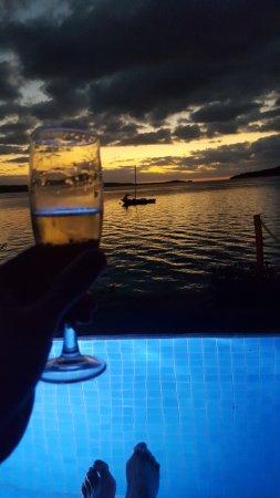 The Havannah, Vanuatu: Pool and sunset from Villa