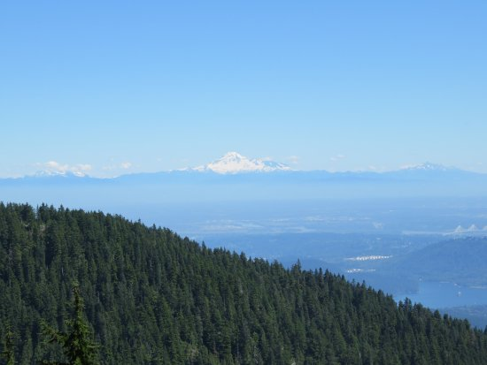 North Vancouver, Canada: Mt Baker USA from Grouse Mountain