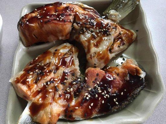 Salmon Arm, Canada: 烤三文魚脖