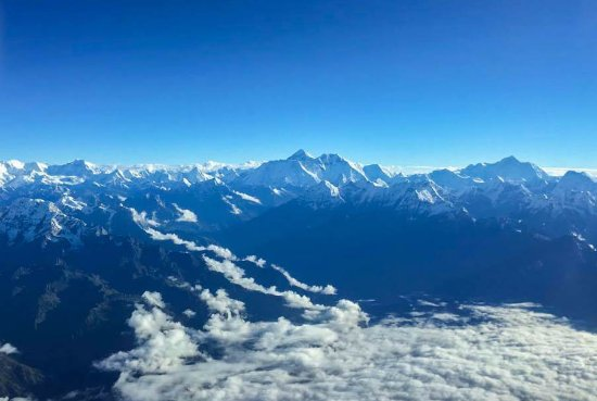 Mount Everest and the Mountains in the Himalayas Picture of Buddha