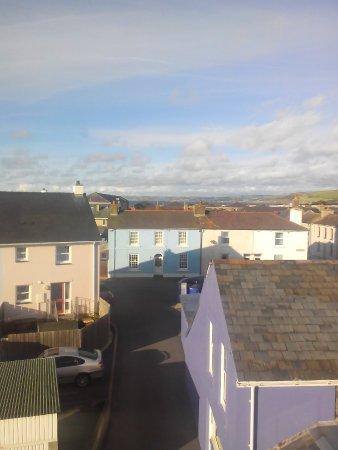 Aberaeron, UK: View of town houses