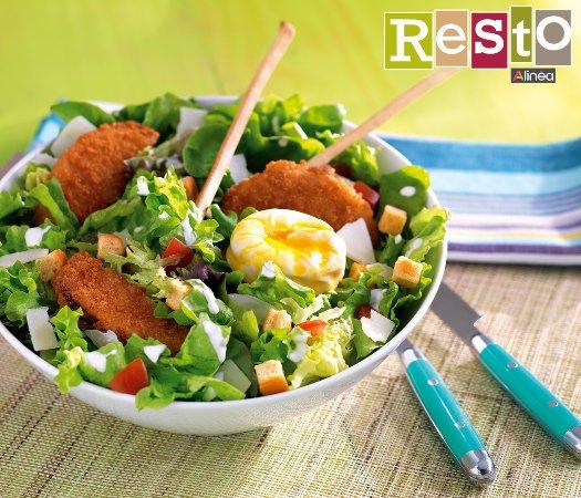 Villars-les-Dombes, Frankreich: Salade Caesar Restaurant Alinéa Resto