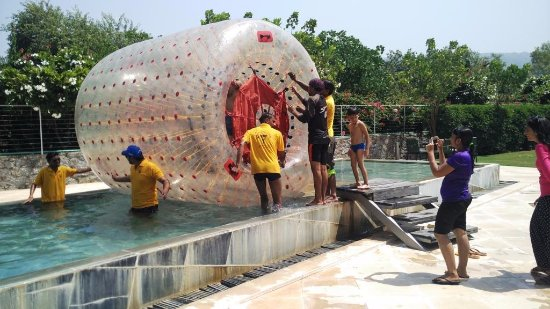 Mana Hotels Zorbing Ball Ride In Swimming Pool