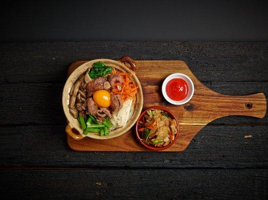 The Farmers Arms Daylesford: Korean bibimbap with kimchi (GF) Vegetarian option