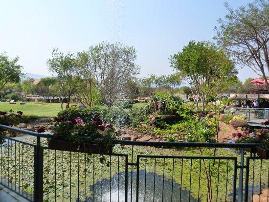 Hartbeespoort, Zuid-Afrika: Pond with waterfall