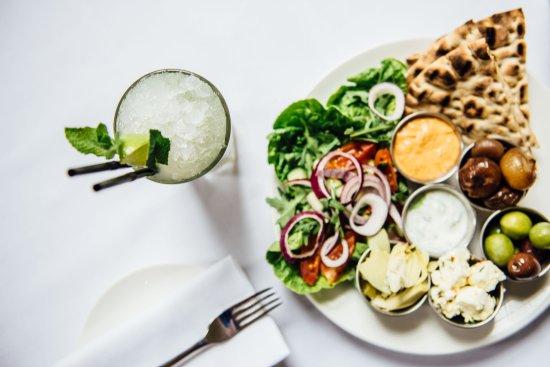 Welford on Avon, UK: Greek Mezze Sharing Platter