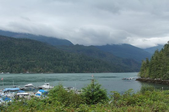 Egmont, Canadá: uitzicht vanaf het resort